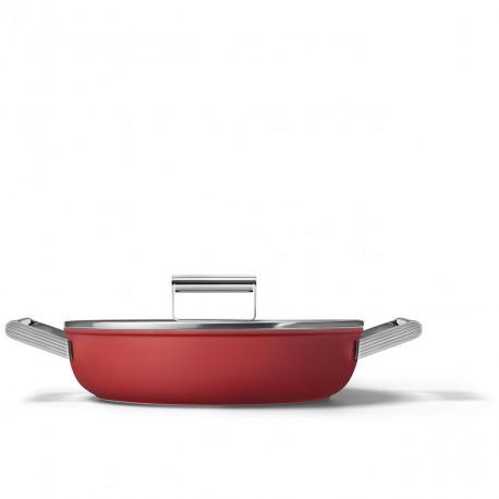 Sauteuse rouge mat 28cm SMEG CKFD2811RDM