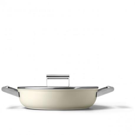 Sauteuse crème mat 28cm SMEG CKFD2811CRM