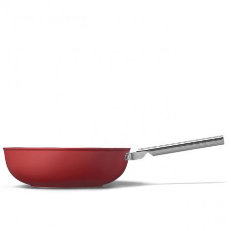 Wok rouge mat 30cm SMEG CKFW3001RDM