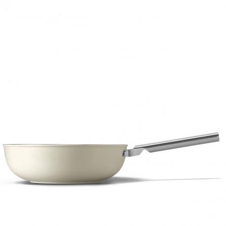 Wok crème mat 30cm SMEG CKFW3001CRM