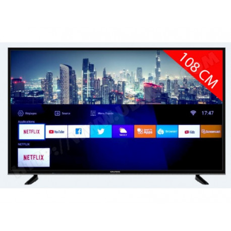 Téléviseur LCD LED Ultra HD 4K Smart TV reconditionné GRUNDIG 43GDU7500B