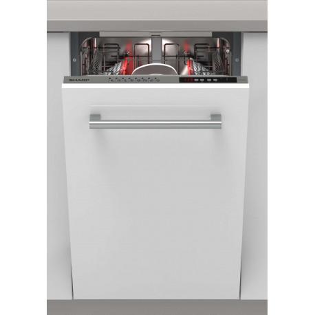 Lave vaisselle tout intégrable 45cm Sharp QWI1GI47EX