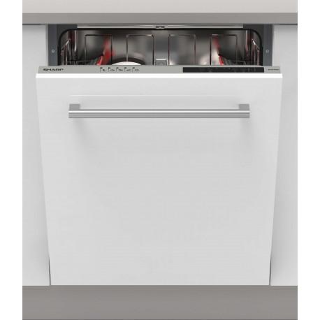 Lave vaisselle tout intégrable 60cm Sharp QWNI14I47EX