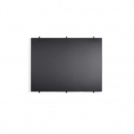 152200 Crédence 90 cm noir hauteur 69 cm