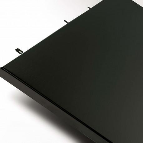172200 Crédence 120 cm noir hauteur 69 cm